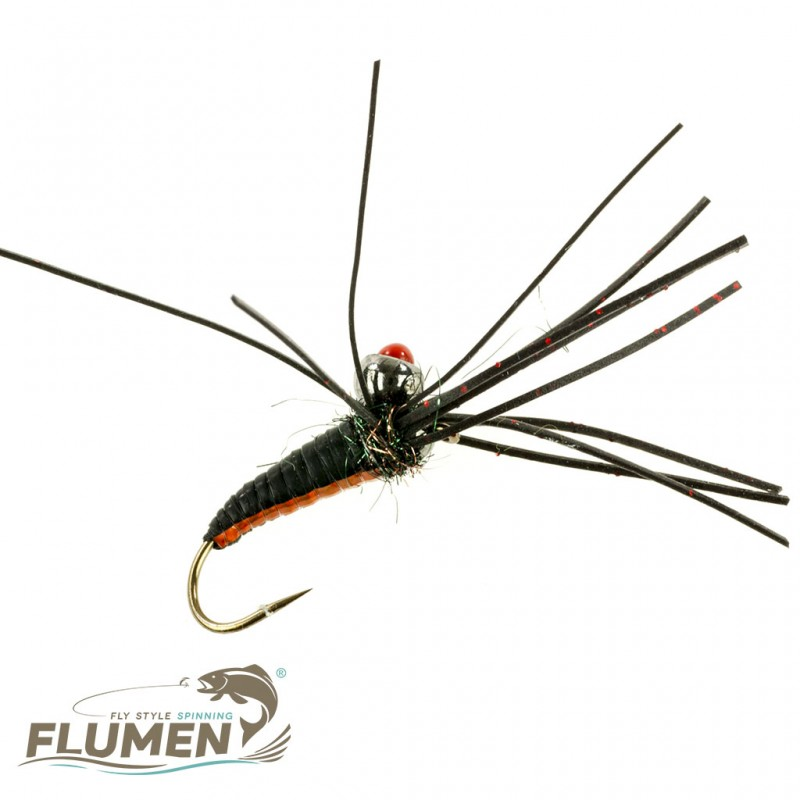 FLUMEN JIG NYMPH INSANE RED DOT