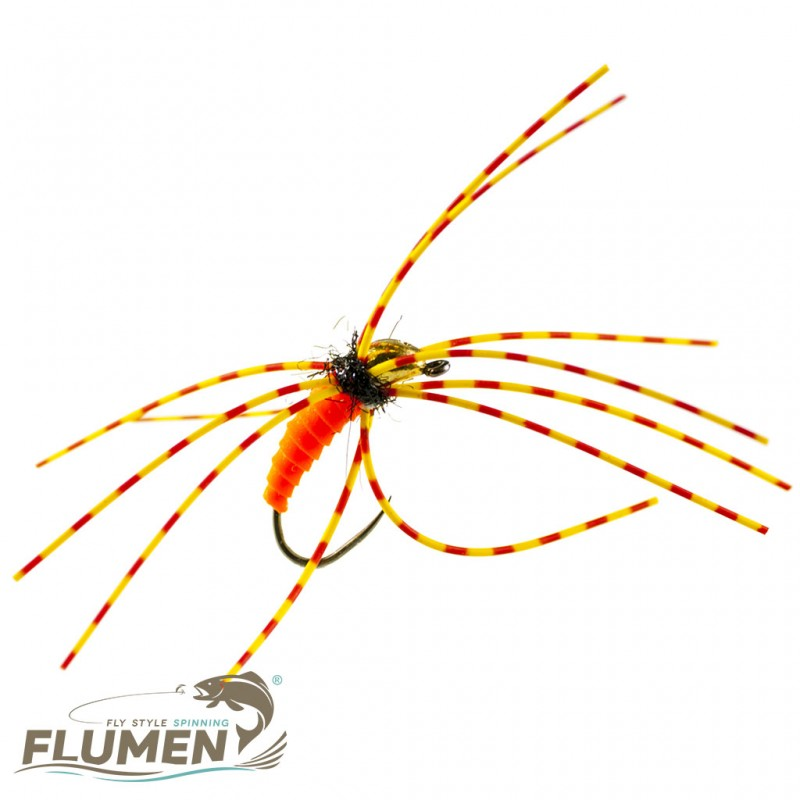 FLUMEN JIG NYMPH ORANGE JUICE