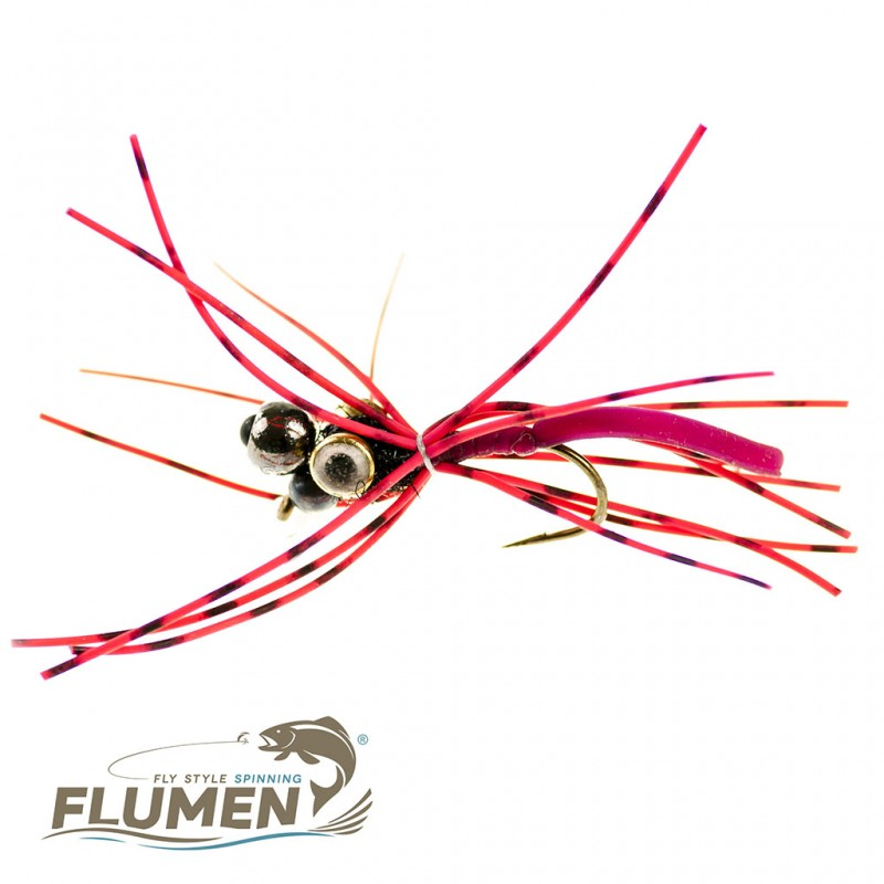 FLUMEN JIG NYMPH TRIPLE HEAD GUMMY WORM